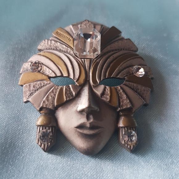 Vintage Masquerade brooch